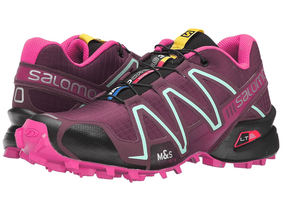 Salomon - Speedcross 3 (Bordeaux/Hot Pink/Lotus Pink) Women's Running Shoes