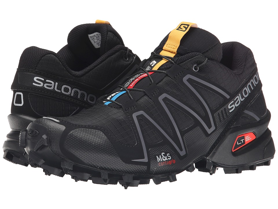 Salomon - Speedcross 3 (Black/Black/Silver Metallic-X) Women's Running Shoes