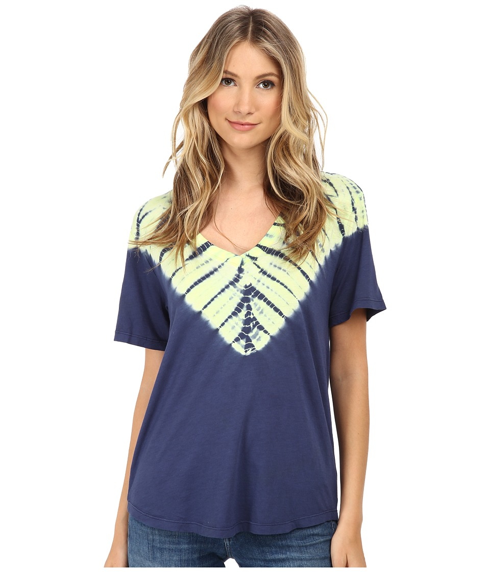 Splendid - Kaleidoscope Tee (Navy) Women