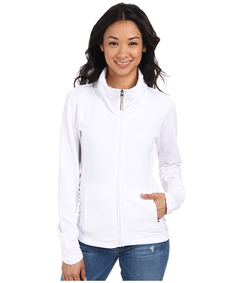 Bench - Nolie Zip Thru (Bright White) Women's Sweatshirt