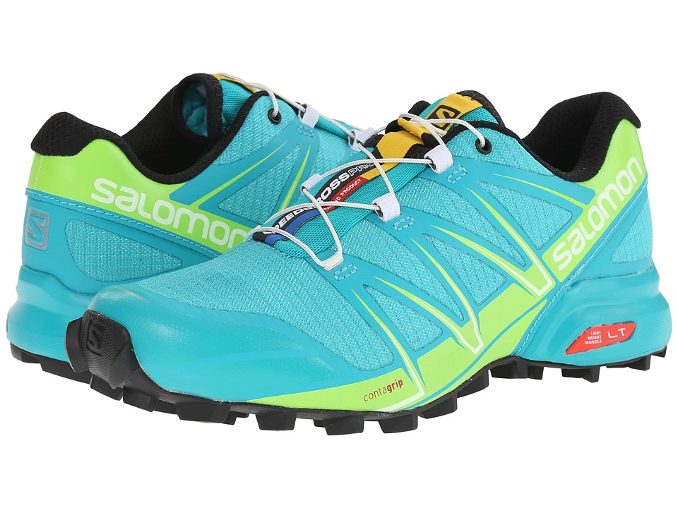 Salomon - Speedcross Pro (Teal Blue F/Granny Green/White) Women's Shoes