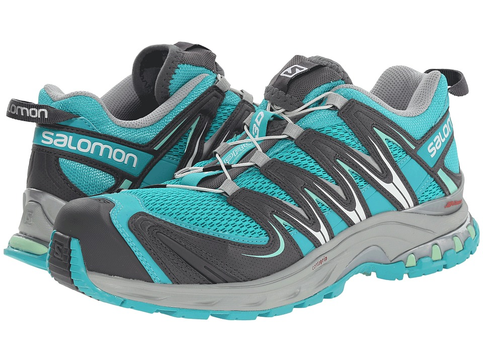 Salomon - XA Pro 3D (Teal Blue F/Dark Cloud/Lucite Green) Women's Running Shoes