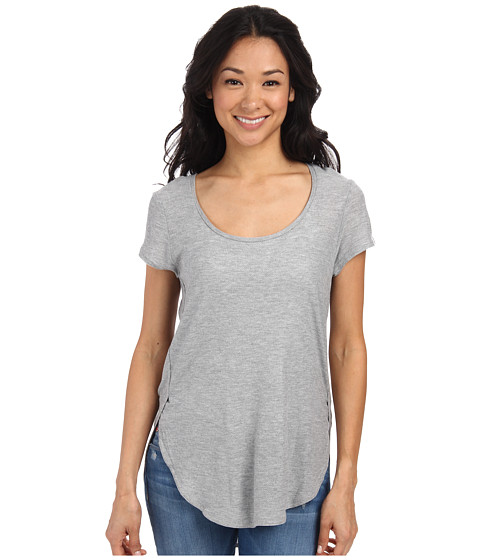 Bench - Raparound Short Sleeve Top (Grey Marl) Women's Clothing