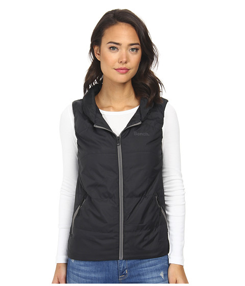 Bench - Higgins II Gilet (Jet Black) Women's Sleeveless