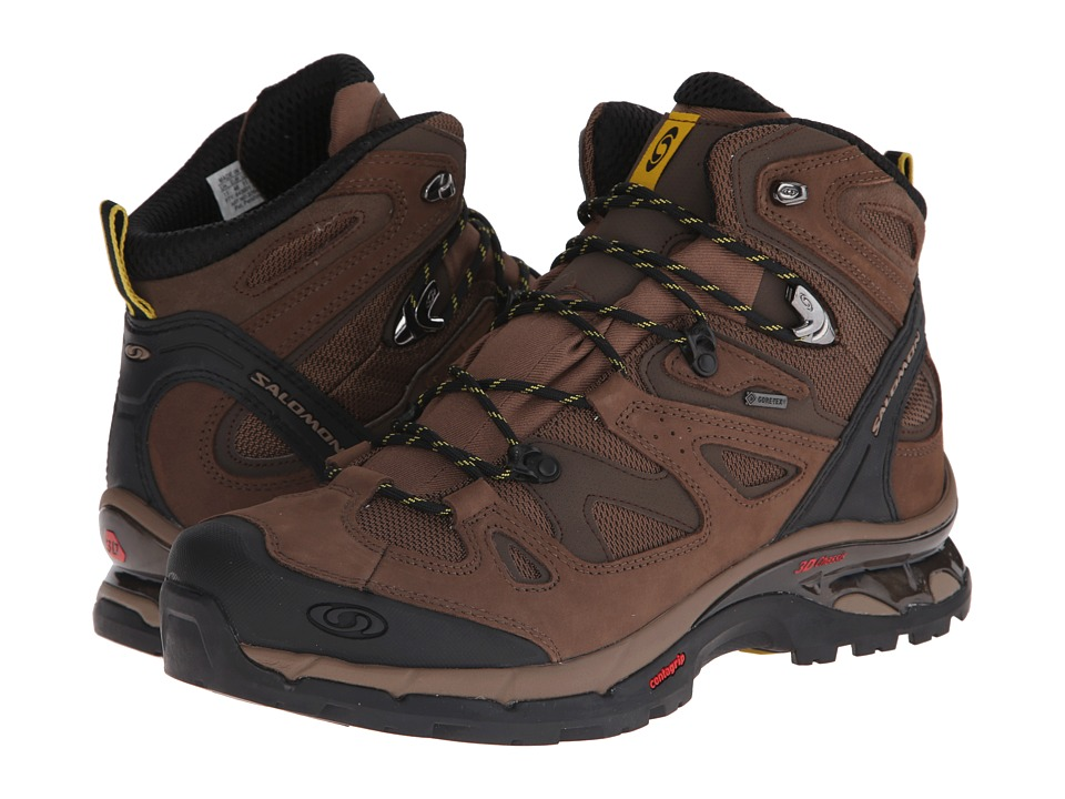 Salomon - Comet 3D GTX (Burro/Absolute Brown-X/Ray) Men's Hiking Boots