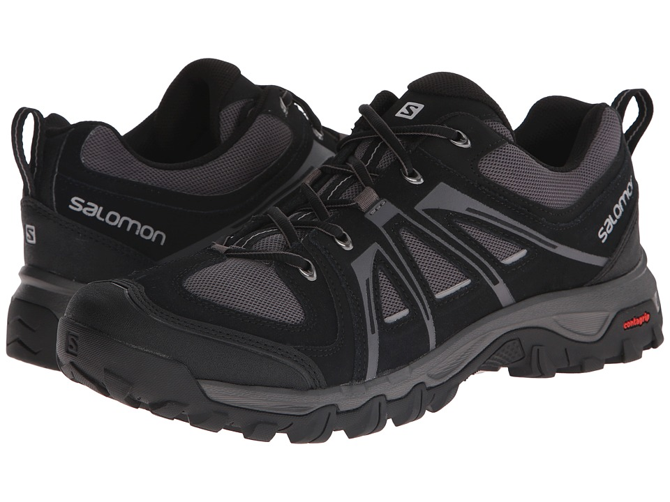Salomon - Evasion Aero (Black/Autobahn/Pewter) Men's Shoes