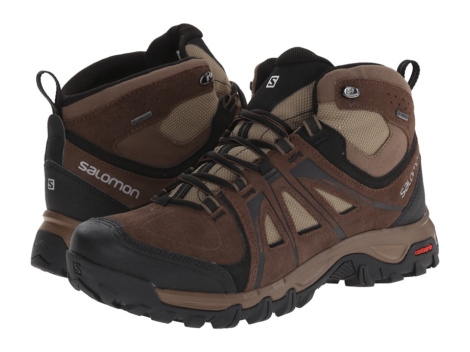 Salomon - Evasion Mid GTX (Absolute Brown-X/Burro/Dark Navajo) Men's Shoes