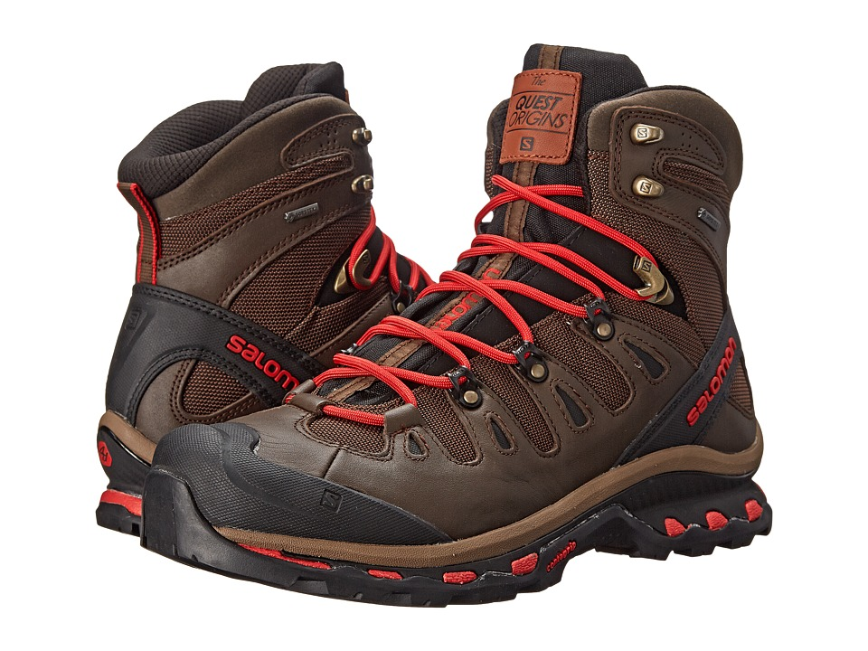 Salomon - Quest Origins GTX (Absolute Brown-X/Black/Quick) Men's Shoes