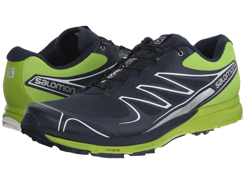 Salomon - Sense Pro (Deep Blue/Granny Green/White) Men's Shoes