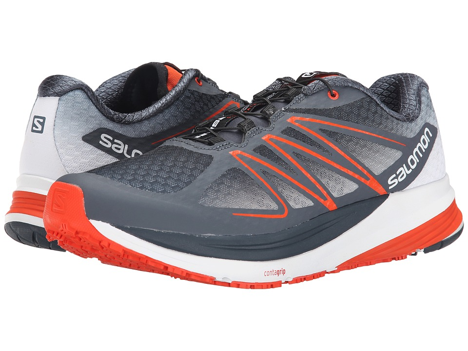 Salomon - Sense Propulse (Deep Blue/Grey Denim/Tomato Red) Men's Shoes