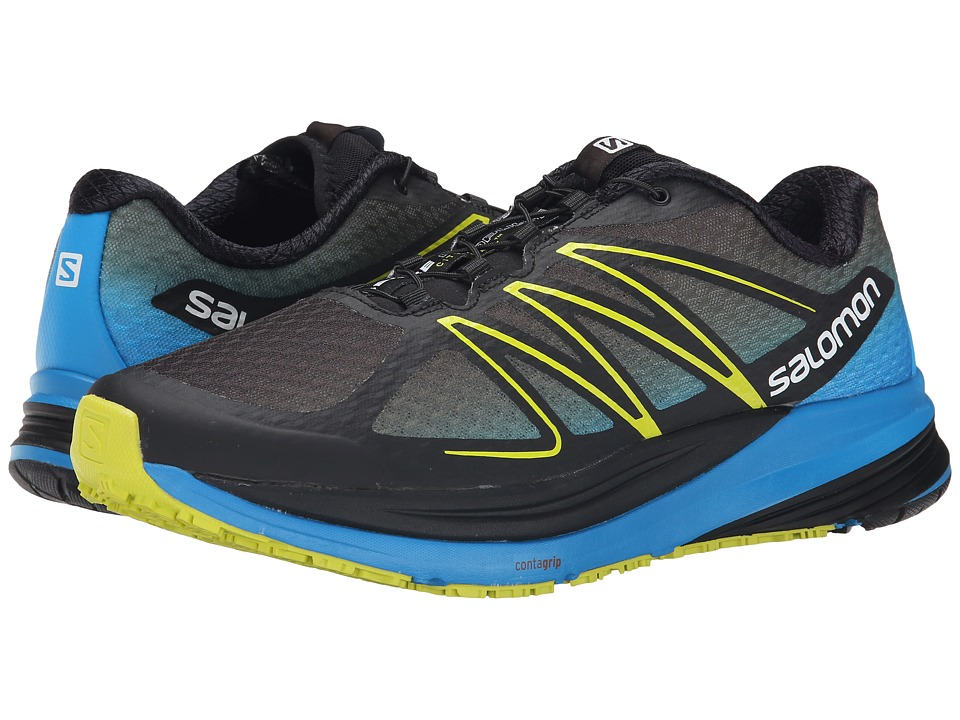 Salomon - Sense Propulse (Black/Methyl Blue/Gecko Green) Men's Shoes