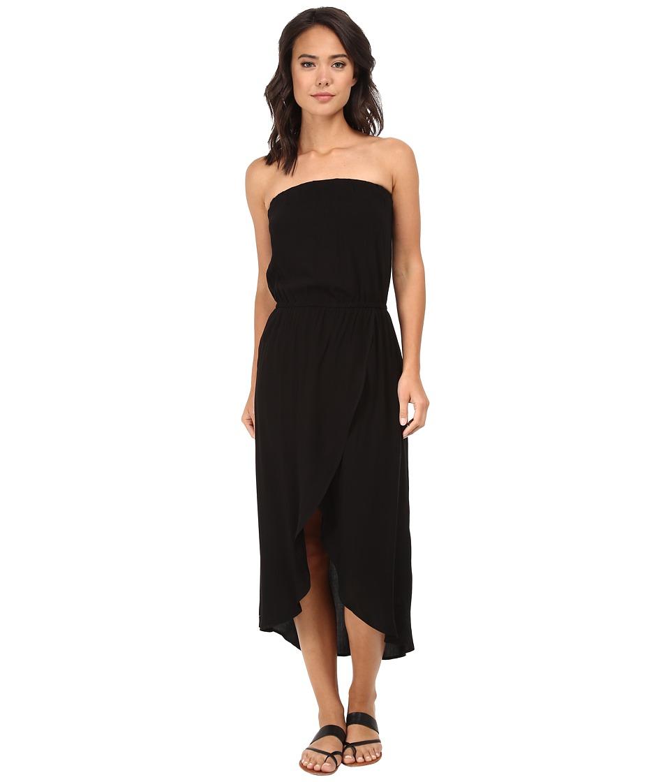 Splendid - Tube Top Tulip Dress (Black) Women