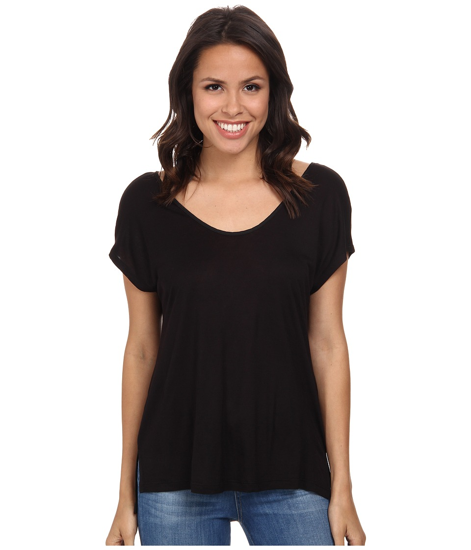 Splendid - Midnight Jersey Tee (Black) Women's T Shirt