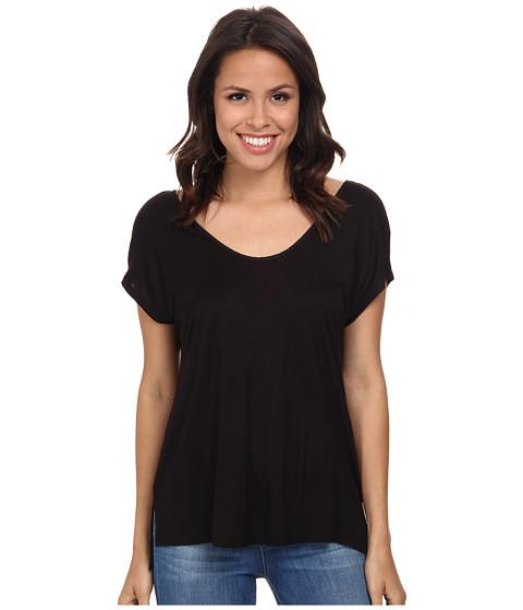 Splendid - Midnight Jersey Tee (Black) Women's T Shirt