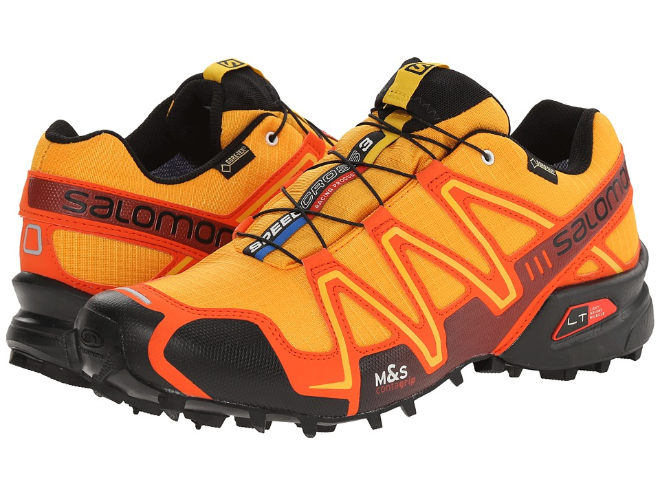 Salomon - Speedcross 3 GTX (Yellow Gold/Tomato Red/Black) Men's Shoes