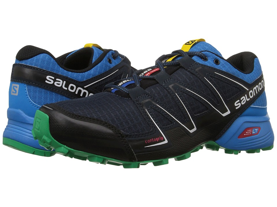 Salomon - Speedcross Vario (Deep Blue/Methyl Blue/Real Green) Men's Shoes
