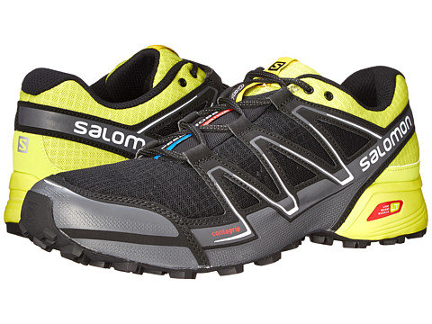 Salomon - Speedcross Vario (Black/Gecko Green/Dark Cloud) Men's Shoes