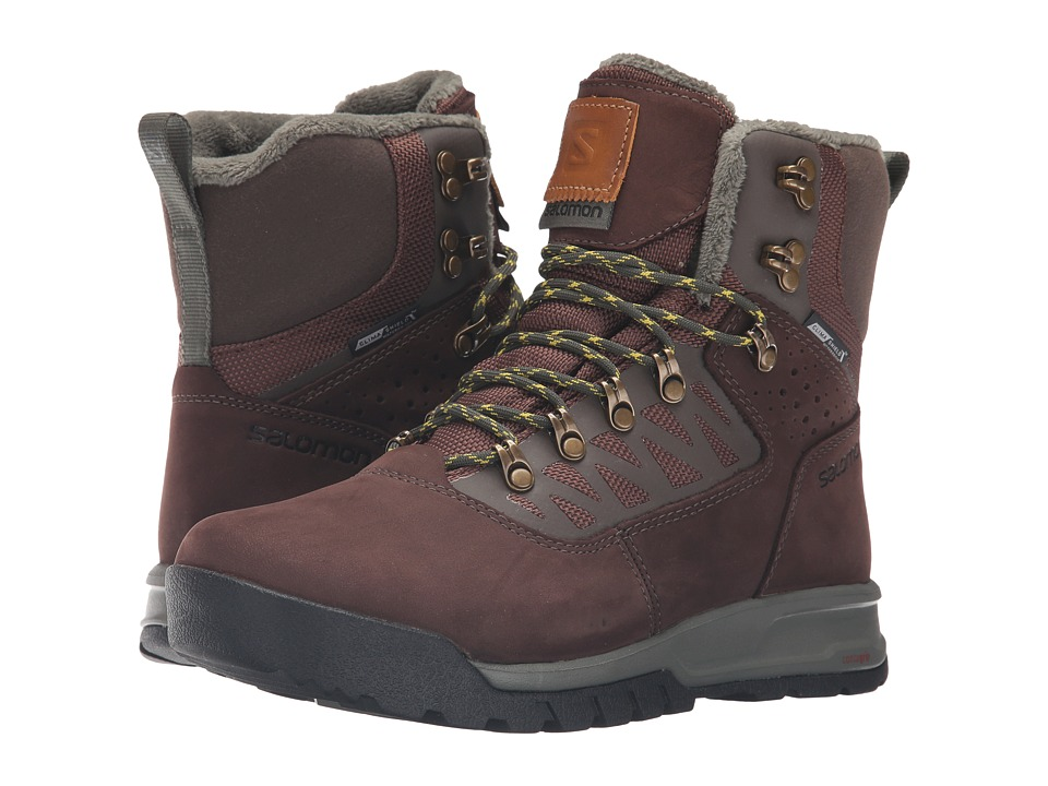 Salomon - Utility Pro TS CS WP (Trophy Brown Leather/Absolute Brown-X/Night Forest) Men's Shoes
