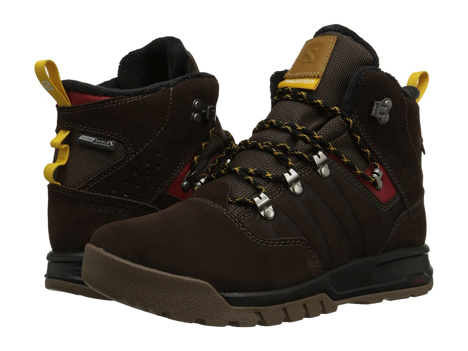 Salomon - Utility TS CS WP (Trophy Brown Leather/Absolute Brown-X/Sunny-X) Men's Shoes