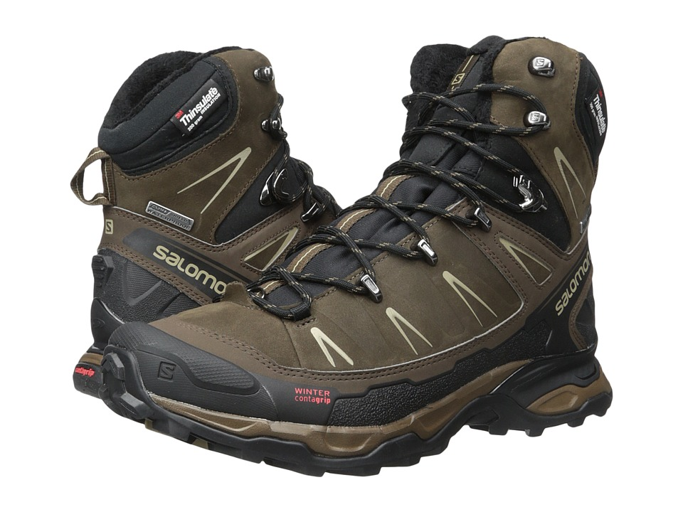 Salomon - X Ultra Winter CS WP (Absolute Brown-X/Black/Navajo) Men's Shoes