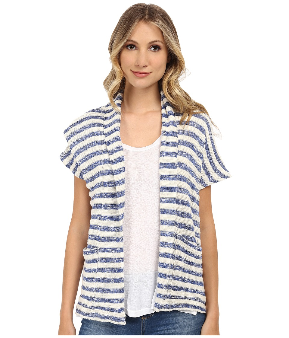 Splendid - Ohana Stripe Loose Knit Wrap (Cobalt Blue) Women's Sweater