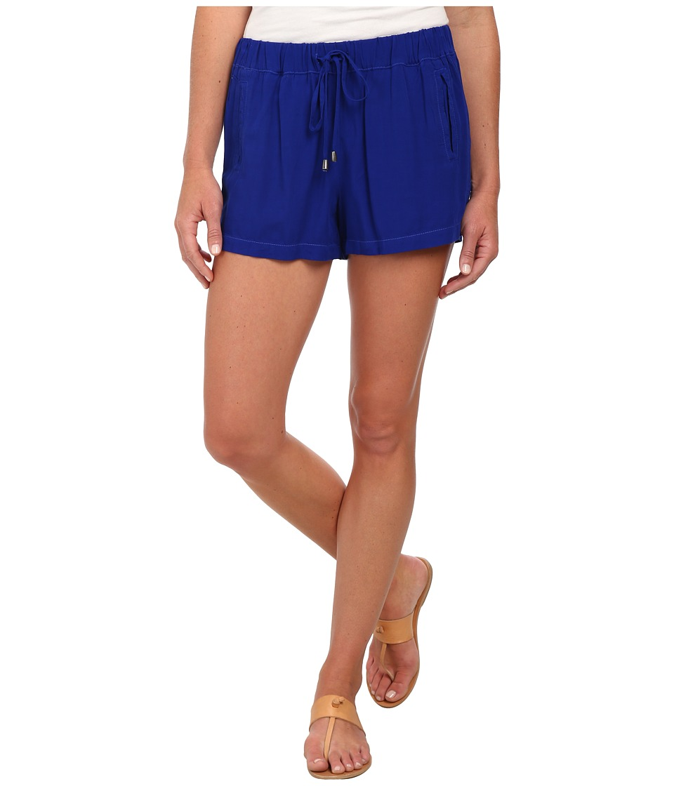 Splendid - Rayon Voile Shorts (Cobalt Blue) Women