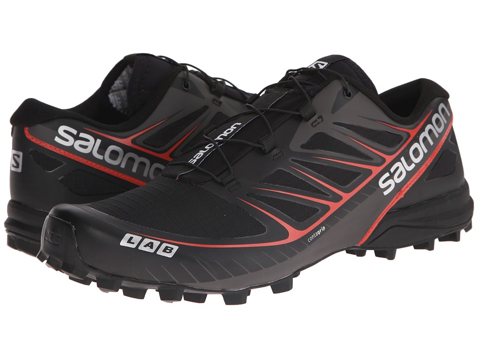 Salomon - S-Lab Speed (Black/Black/Racing Red) Athletic Shoes