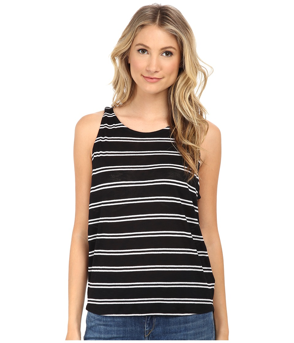 Splendid - Cayman Stripe Tank Top (Black/White) Women's Sleeveless