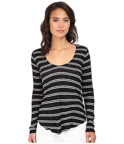 Splendid - Cayman Stripe Long Sleeve (Black/White) Women's T Shirt
