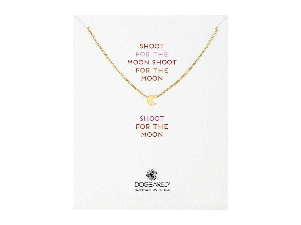 Dogeared - Shoot For The Moon Necklace (Gold Dipped) Necklace