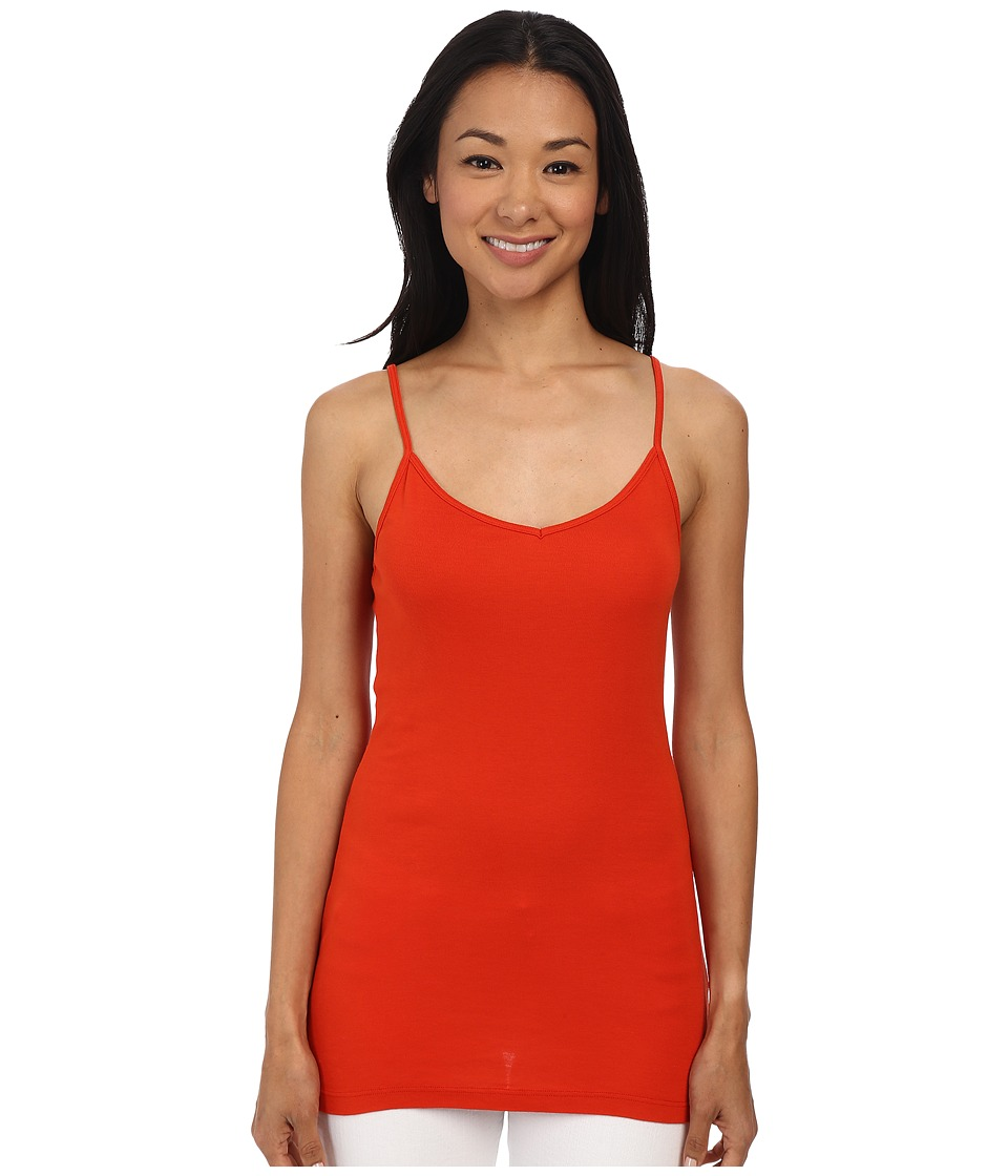 Splendid - 1x1 Spaghetti Strap Tank Top (Poppy Red) Women