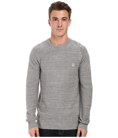 Bench - Urbanish Crew Neck Knit (Smoked Pearl) Men's Sweater