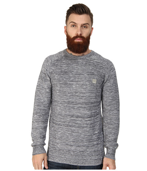 Bench - Urbanish Crew Neck Knit (Total Eclipse) Men's Sweater