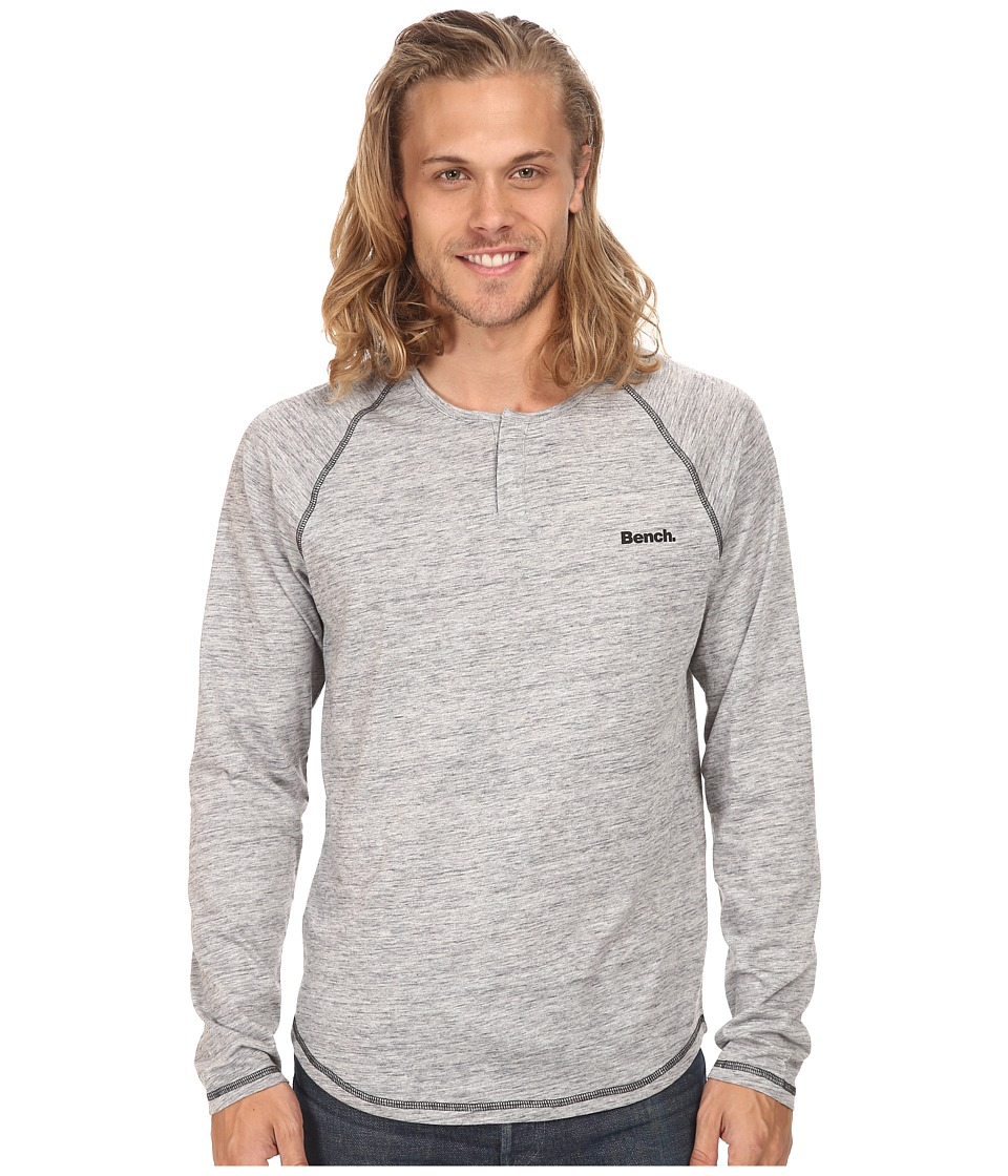 Bench - Chinuk Regular T-Shirt (Gy149 Grey Marl) Men's Long Sleeve Pullover