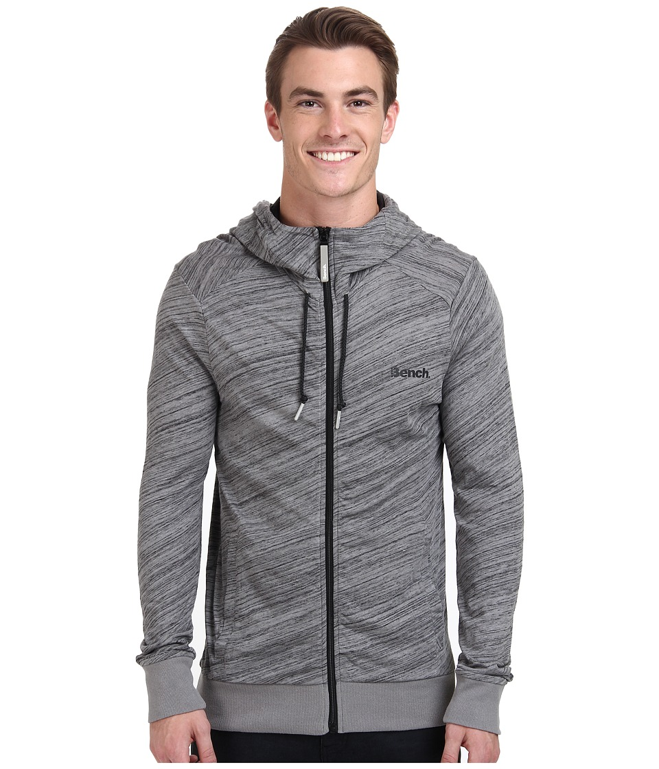 Bench - Penwig Hooded Zip Thru (Neutral Grey) Men's Clothing