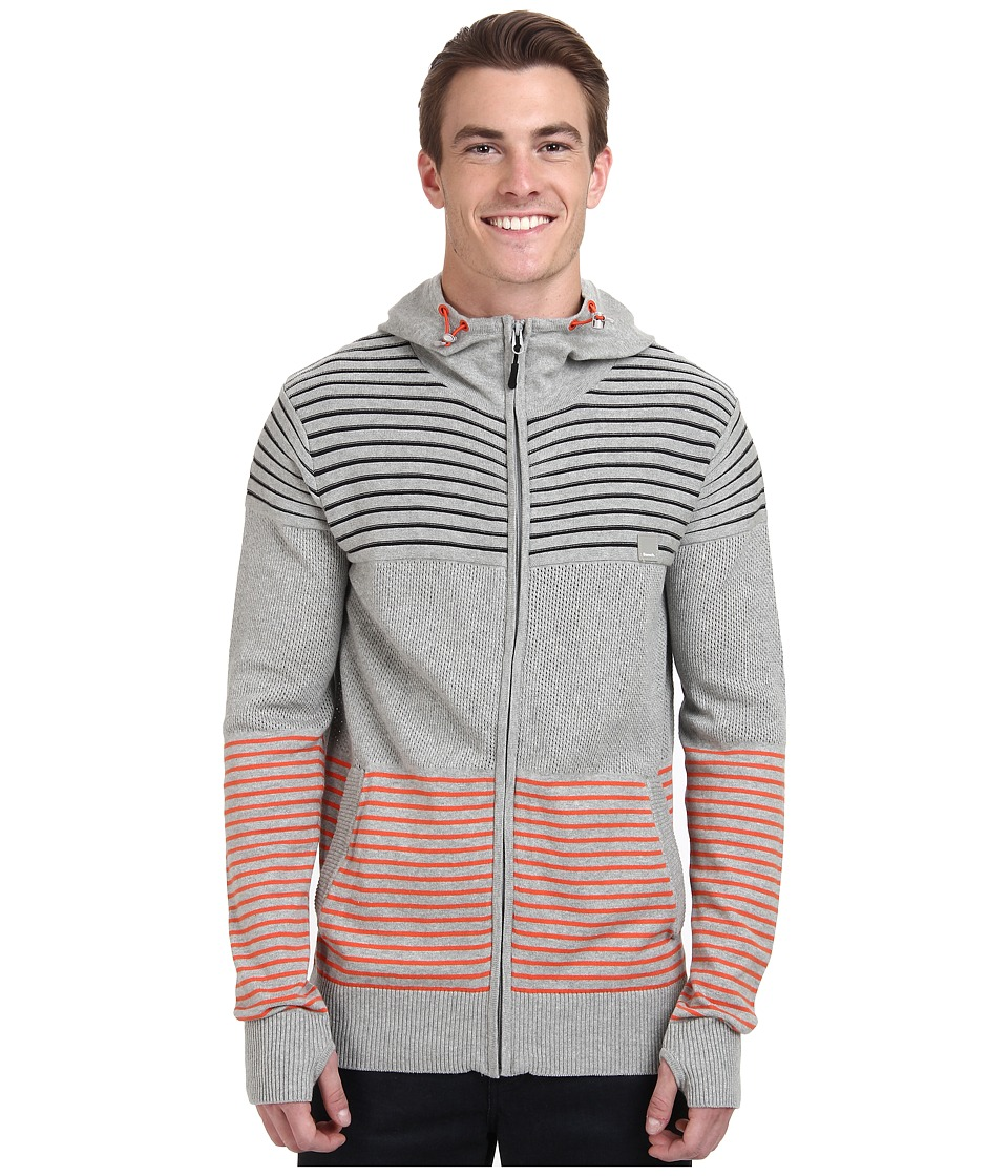 Bench - Gridlocked Hooded Knit (Grey Marl) Men's Clothing