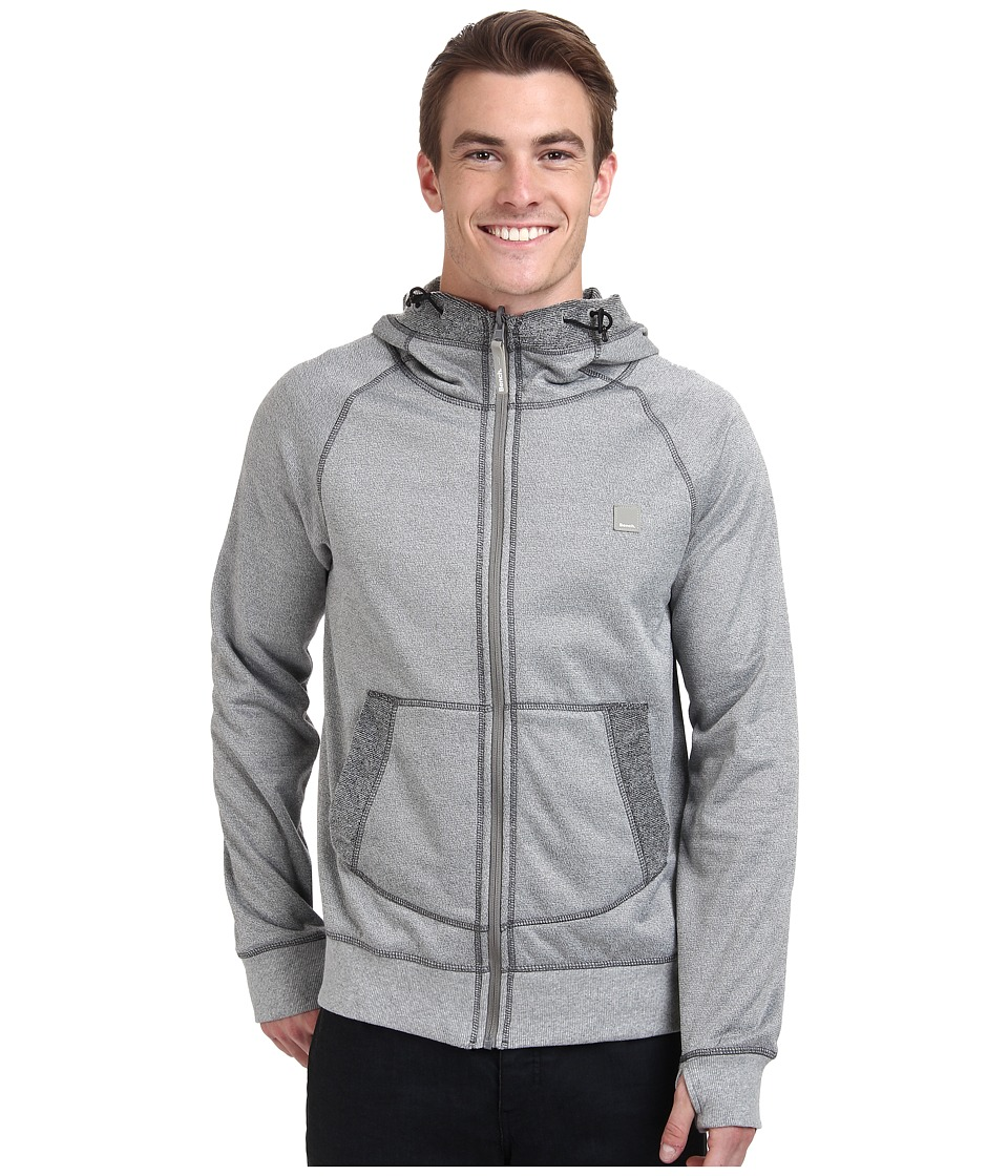 Bench - Malefant Hooded Zip Thru (Grey Marl) Men's Sweatshirt