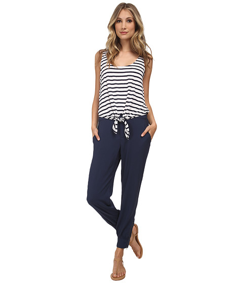 Splendid - Tie Front Jumpsuit (Navy) Women's Jumpsuit & Rompers One Piece