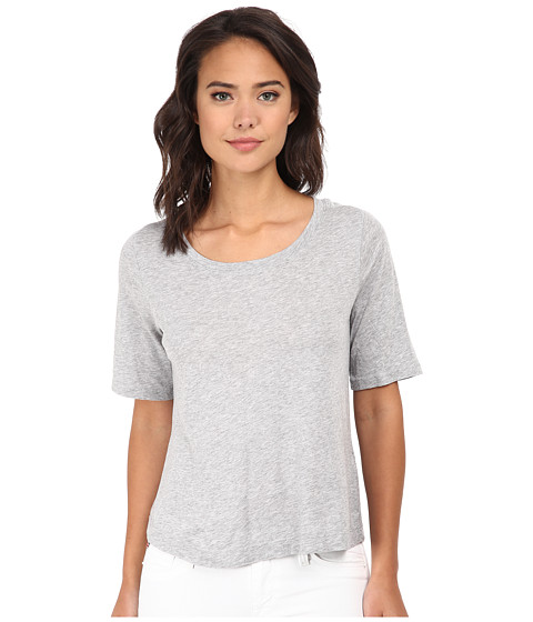Splendid - Very Light Jersey Tee (Heather Grey) Women's T Shirt
