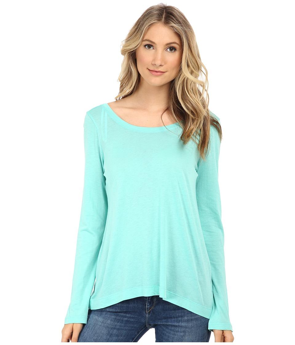 Splendid - Long Sleeve Very Light Jersey (Sea Green) Women