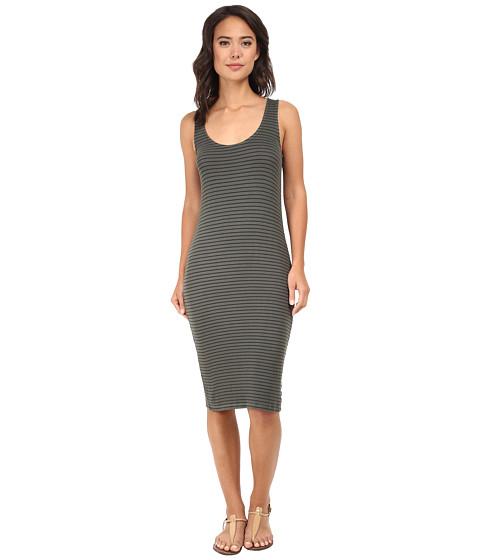 Splendid - Rib Column Dress (Dusty Olive) Women