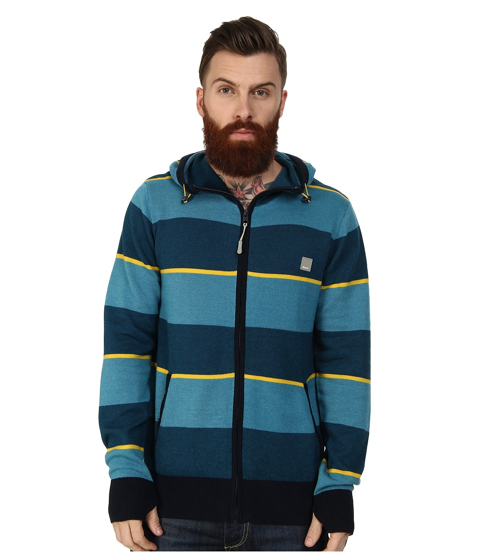 Bench - Urbane Zip Thru Hoodie (Seaport) Men's Sweatshirt