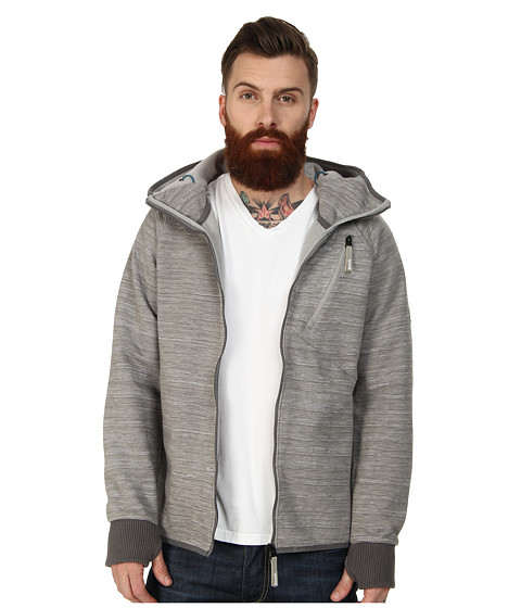 Bench - Skyelight Zip Thru Hoodie (Smoked Pearl) Men