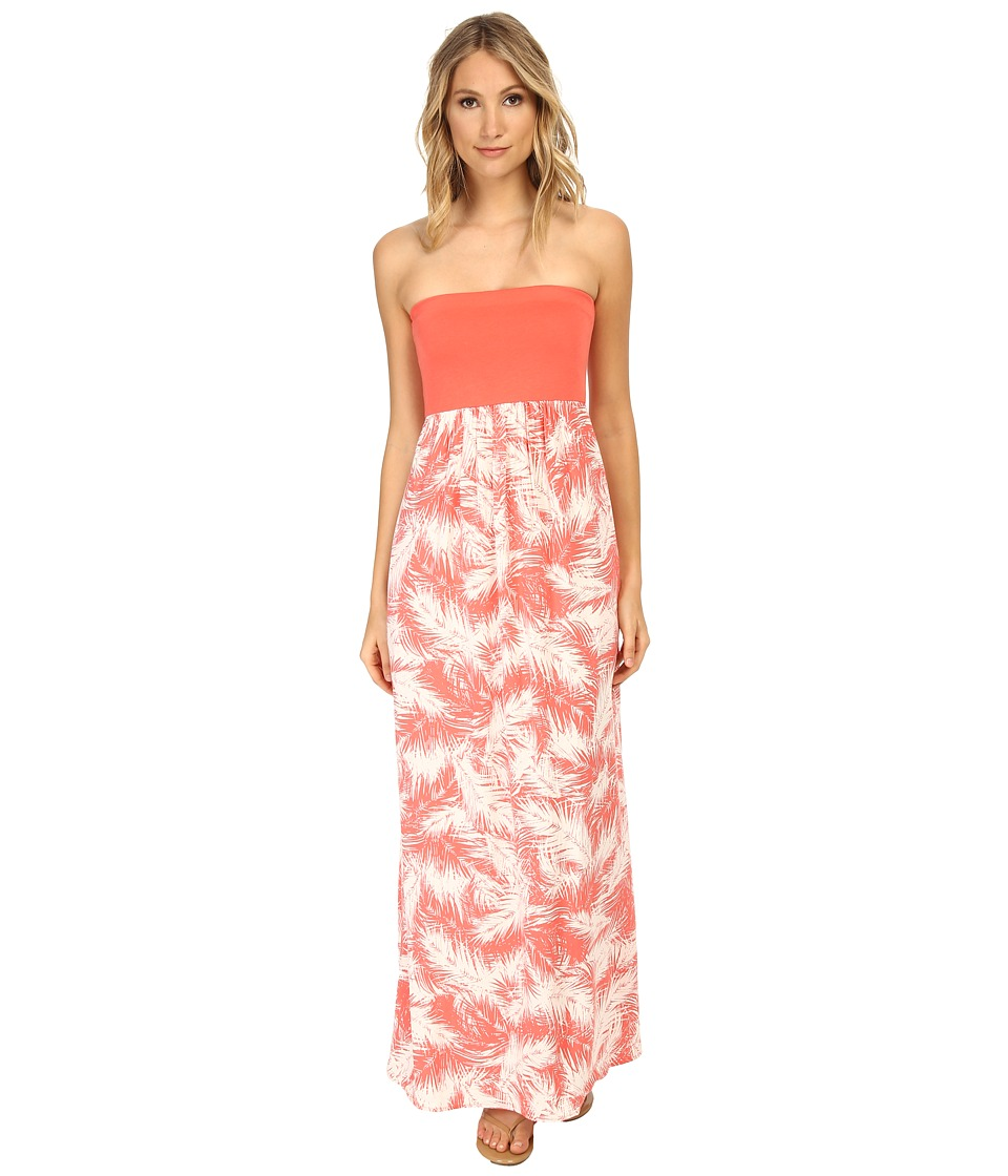 Splendid - Palm Fronds Maxi Dress (Guava) Women's Dress