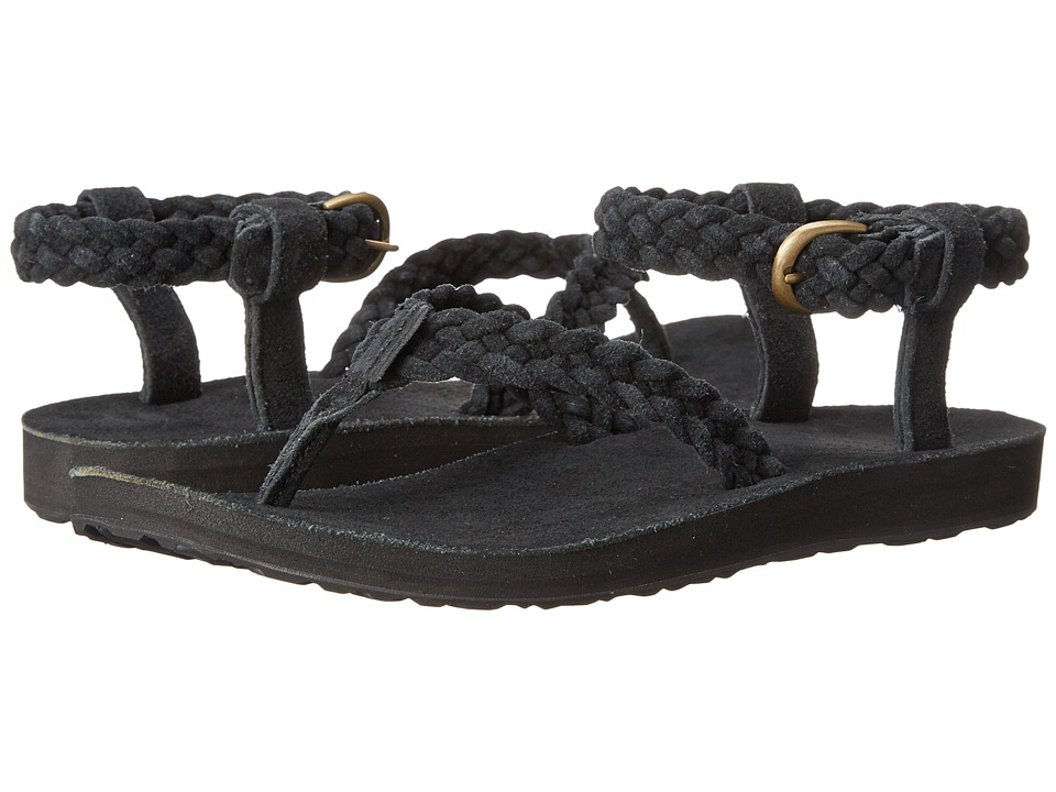 Teva - Original Sandal Suede Braid (Black) Women's Sandals
