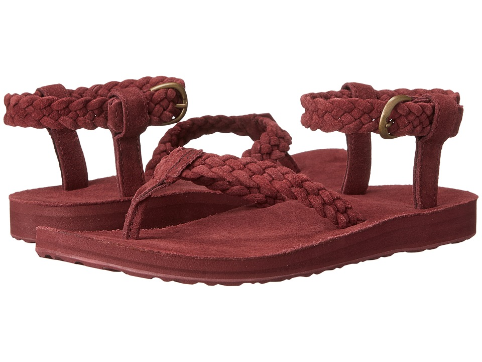 Teva Original Sandal Suede Braid (Zinfandel) Women