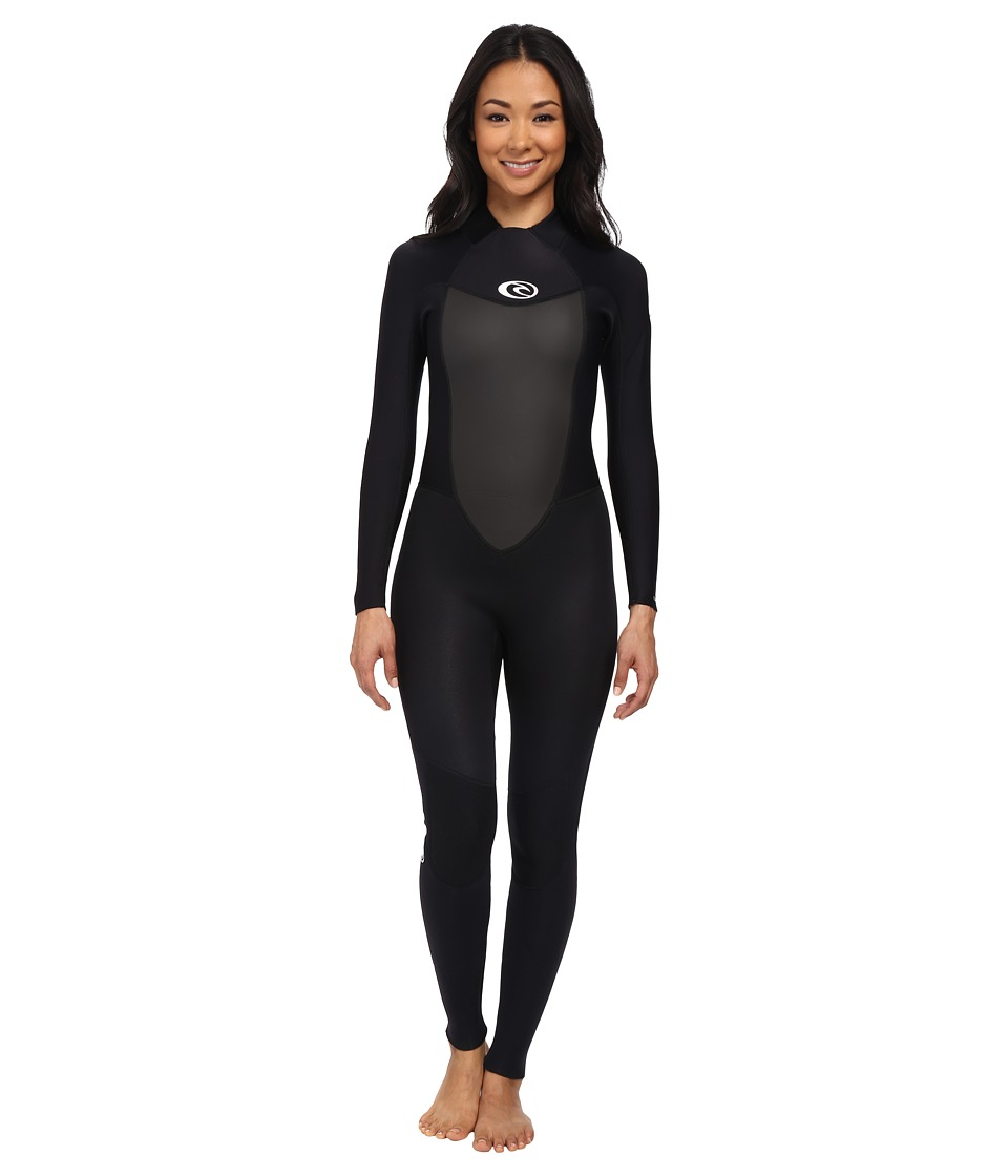Rip Curl - Omega 3/2 Full Suit (Black) Women's Wetsuits One Piece