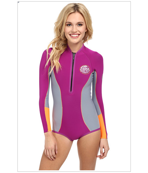 Rip Curl - G Bomb 1MM L/S Spring Suit High Cut (Purple) Women's Wetsuits One Piece