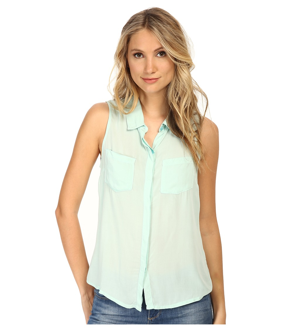 Splendid - Rayon Voile Tank Top (Surf Spray) Women's Sleeveless
