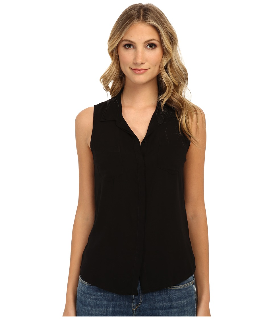 Splendid - Rayon Voile Tank Top (Black) Women's Sleeveless